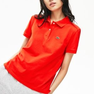 NWT Lacoste Women's Classic Fit Soft Cotton Polo